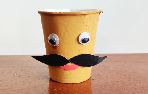 make ravan face for ravan craft idea