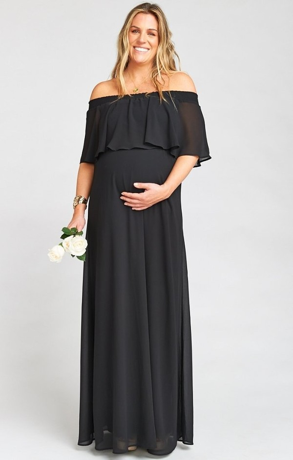 Ruffle maternity dresses for photoshoot in India