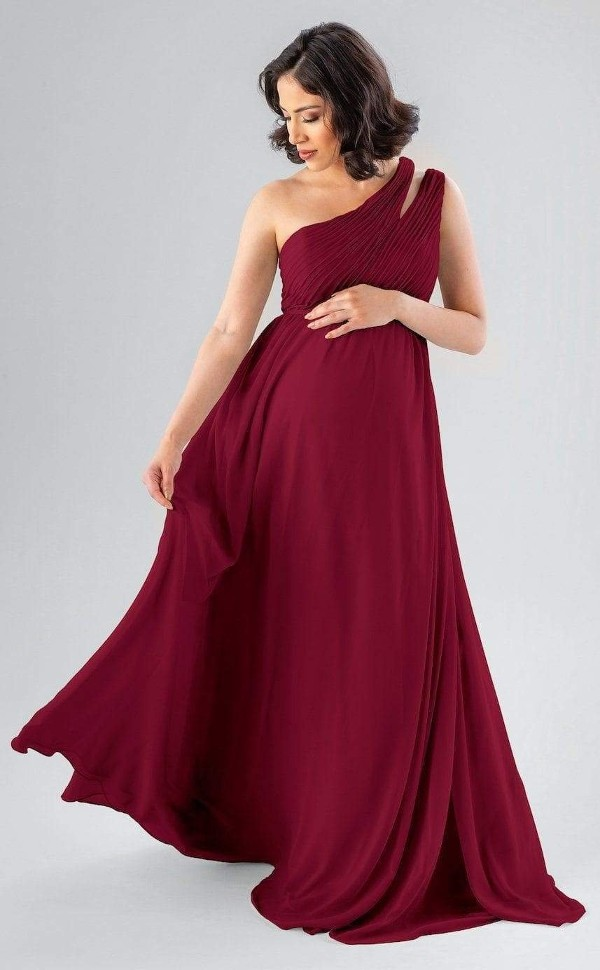 Pleated Maternity dresses for Photoshoot in India