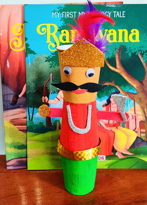 DIY ravan craft for dussehra