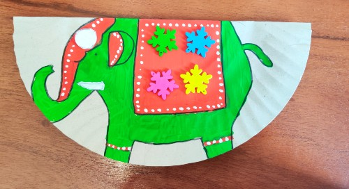 Paper Plate Rocking Elephant Craft For Kids