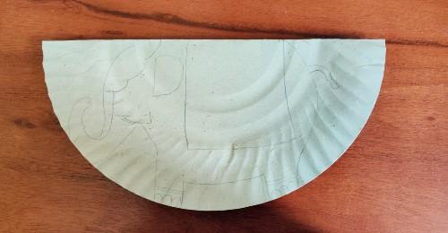 trace elephant for rocking elephant craft